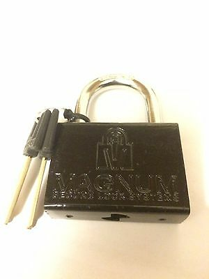 MAGNUM HIGH SECURITY PADLOCK T10 3 KEYS HEAVY DUTY HARDENED STEEL Mul T Lock
