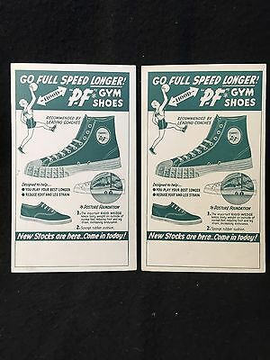 """Vtg 50s PF FLYERS Cardboard Card Sign Lot USA ADVERTISING Premium Toy 3.625""""x6"""""""