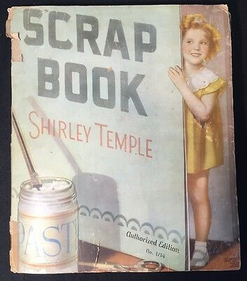 Vtg Shirley Temple Scrap Book LOOIE & HERBY 1936 Chicago Tribune Comic Clippings