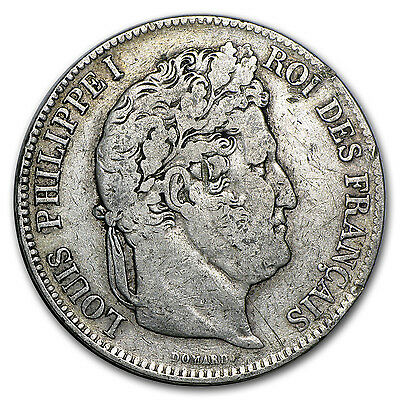 France Silver 5 Francs Louis Philippe I - Average Circulation - SKU #48597