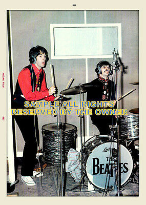 BEATLES PHOTO PRO LAB  SGT PEPPERS SESSIONS 1967 PAUL McCARTNEY & RINGO STAR