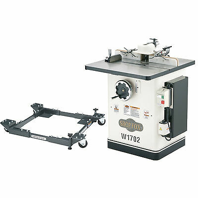 """Shop Fox W1702 30-1/2"""" x 28-1/4"""" 3 HP Shaper with D2057A Mobile Base"""