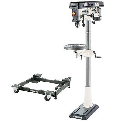 Shop Fox W1670 1/2 HP Floor Radial Drill Press with D2260A Mobile Base