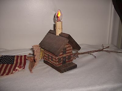 """Lighted  4Th Of July Wooden Table Lamp/night Light""""works"""