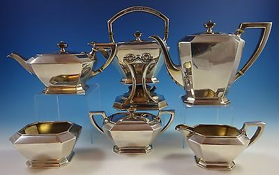 Fairfax by Durgin-Gorham Sterling Silver Tea Set 6Pc #04 (#1277) Fabulous!
