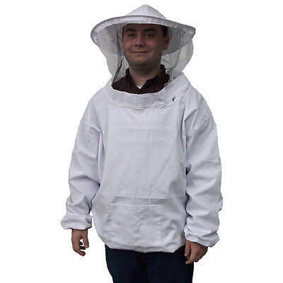 Camouflage Beekeeping Jacket Protective Veil Smock Bee Coat Suit Clothes  White