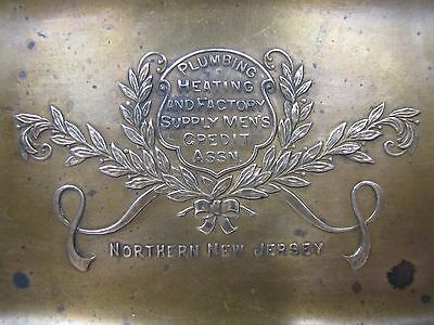 Old Plumbing Heating and Factory Supply Men's Credit Assn Advertising Tray No NJ
