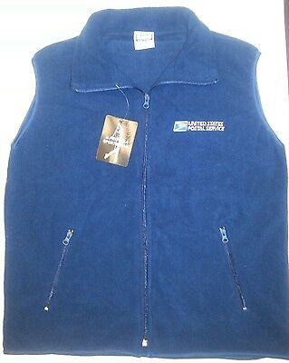 USPS Polar Fleece Full Zipper Fleece VEST with Embroidery USPS Logo2