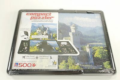 500 Piece Compact Puzzler Portable Sorting and Storage System New
