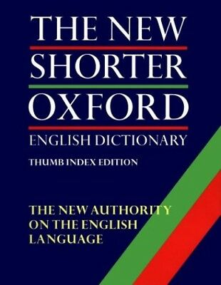 The New Shorter Oxford English Dictionary: With Thumb Index (2 ..., OUP Hardback