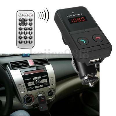 Wireless Bluetooth Car Kit FM Transmitter MP3 USB LCD Handsfree For Android IOS