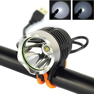 USB Rechargeable 3000LM XML T6 LED Bike Front Light Bicycle Headlamp Headlight