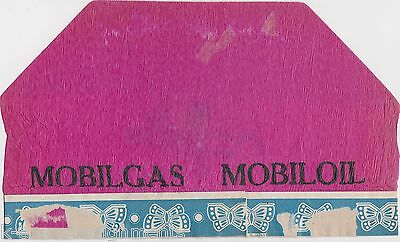 MOBIL OIL MOBIL GAS VINTAGE 1930s PAPER HAT or PUMP COVER ADVERTISING PIECE