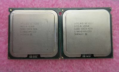 MATCHED PAIR OF Intel Xeon X5365 3 GHz 4-Core Prozessor Sockel 771 SLAED CPU