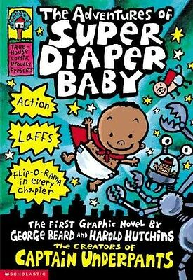 The Adventures of Super Diaper Baby by Dav Pilkey Paperback Book (English)