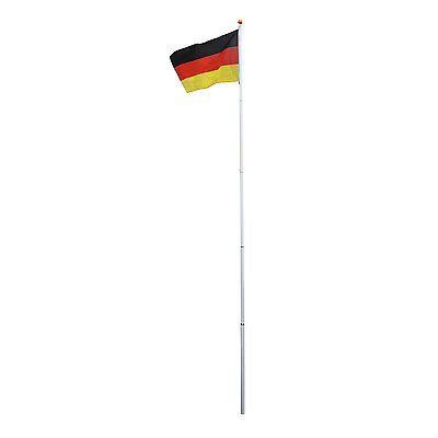 Outsunny Alu Fahnenmast Flaggenmast Staatsflagge Nationalflagge Deutschlandfahne
