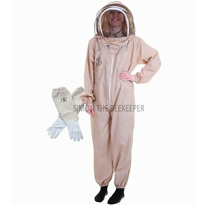 Beekeeping Khaki Fencing Veil Suit & Gloves-Buzz Basic - Choose Your Size