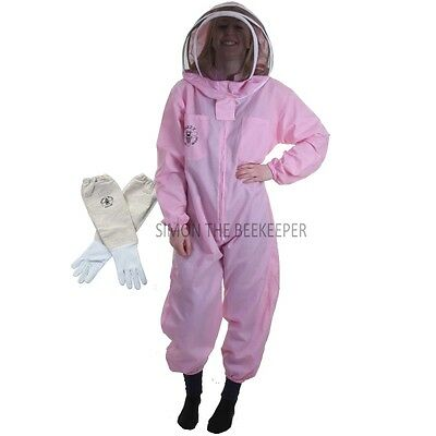 Beekeeping Pink Fencing Veil Suit & Gloves- Buzz Basic-Choose Your Size