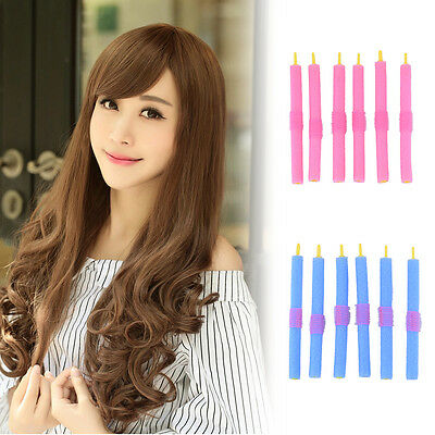 12pcs Stretchy DIY Magic Hair Curlers Leverage Formers Spiral Styling Tools