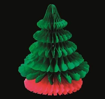 28cm Christmas Paper Tree Hanging Party Decoration Honeycomb Vintage Garland Fun