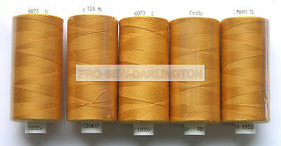 5 REELS GOLD MOON POLYESTER SEWING THREAD COTTON 120s ( 73 )