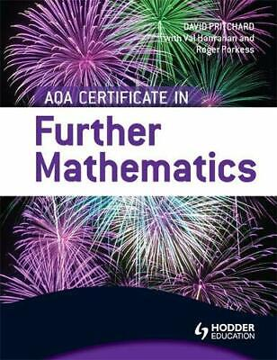 AQA Certificate in Further Mathematics by Pritchard, David Book The Cheap Fast