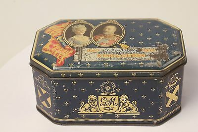 1935 Silver Jubilee Commemorative Tin George V Queen Mary of England
