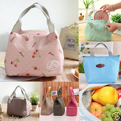 Portable Insulated Thermal Cooler Lunch Bag Picnic Carry Tote Storage Bag Case