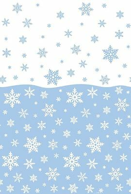 Christmas Snowflakes Plastic Table Cover Party Supplies Decorations Frozen Cloth