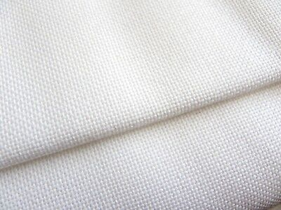 White 25 count Zweigart Lugana evenweave fabric 50 x 70 cm