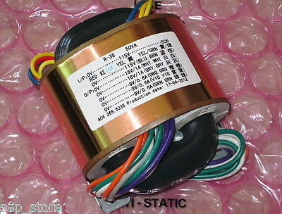 50W R-CORE Copper  Transformer for audio DAC  AC115V /230V  9V*3+16V*2  L169-62