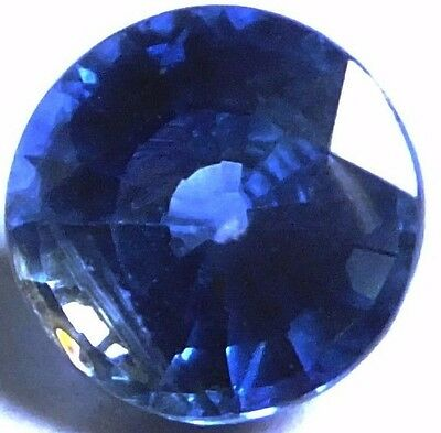 NATURAL AWESOME BLUE KYANITE LOOSE GEMSTONE (7.2 mm) ROUND SHAPE