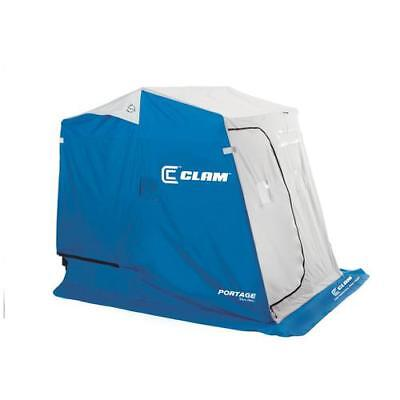Clam Outdoor Ice Fishing 9940 Fish Trap & Fish Trap X Series Shelters Portage
