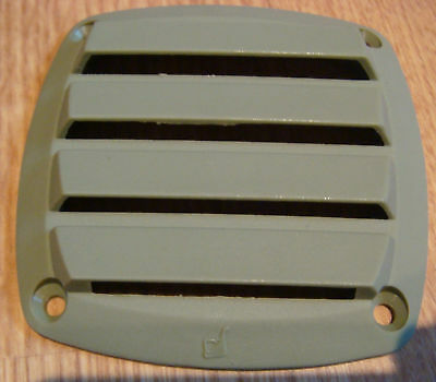 "Vent plastic VENT Green 3 3/8"" x 3 3/8""  NEW FREE ship NOS Ventilator"