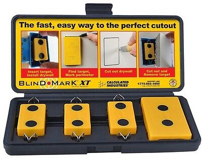 Drywall Electrical Outlet Box Locating Tool Trace Cut Out Template 4-Piece Kit