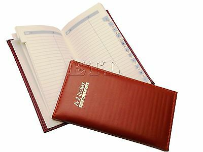 Orange Slim Executive Address Book Soft Padded Faux Leather A-Z Index Diaries