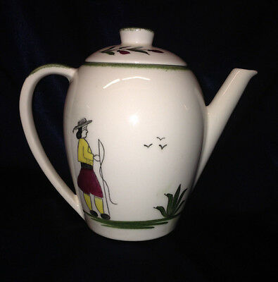 Edwin Knowles Usa Normandy Coffee Pot Oz Peasant Green Sponge