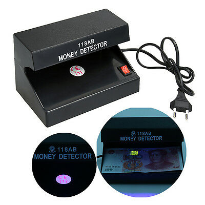 110-220V UV Light Counterfeit Bill Currency Money Detector Checker with US Plug