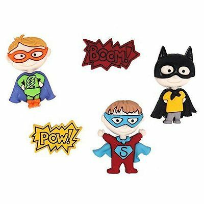 Dress It Up Buttons - Be My Super Hero, pk of 5, 30mm
