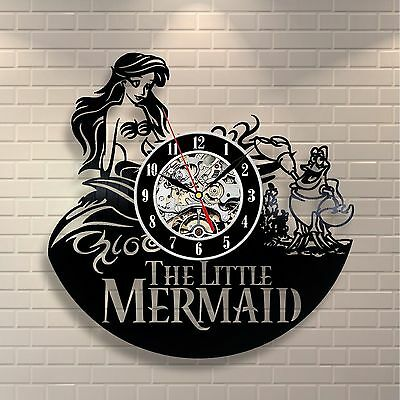 The Little Mermaid_Exclusive wall clock made of vinyl record_GIFT