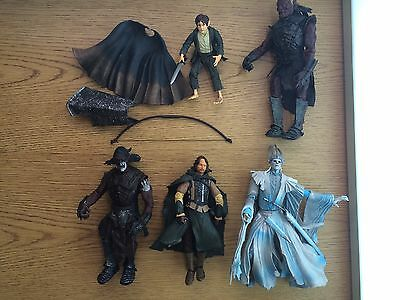 2002 ToyBiz Lord of the Rings 5 Action Figure Lot Pippin Wraith Faramir Lurtz