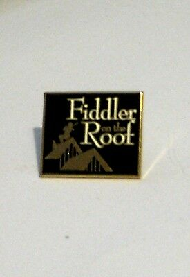 Fiddler on the Roof Broadway Musical Souvenir Metal Lapel Pin Tie Tack Blk/Gold