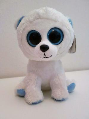 Rare Ty Beanie Boos Plush Soft Toy Doll Tundra The Polar Bear 2012 6""