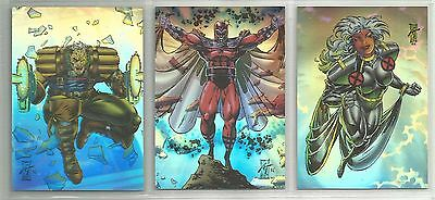 1993 X-Men Series 2 (Skybox) HOLOLITHOGRAM Complete Set of 3 Chase Cards (H1-H3)