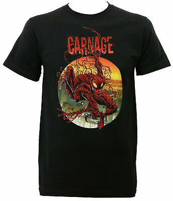 Authentic MARVEL COMICS Carnage Climbing Out Slim-Fit T-Shirt S M L XL 2XL NEW