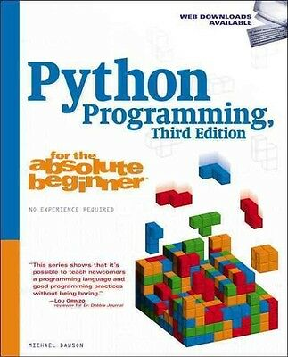 Python Programming for the Absolute Beginner by Michael Dawson Paperback Book (E