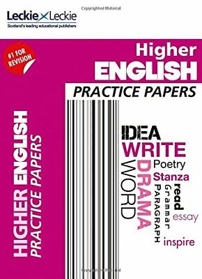 CfE Higher English Practice Papers for SQA Exams (Practi... by Leckie and Leckie