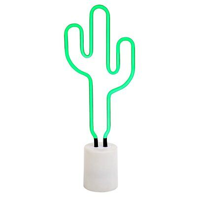 Sunnylife Luxe Cactus Neon Light Large Retro Style Vegas Inspired Quirky Lamp