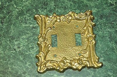 Vintage Ornate Thick Solid Brass Wall Light Switch Cover Plate