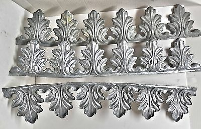 Antique Style 3 Metal Ceiling Trim Stamped Pc's New Fern Pattern